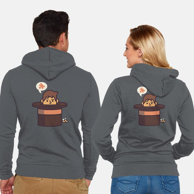 Puzzling Professor-unisex zip-up sweatshirt-Minilla