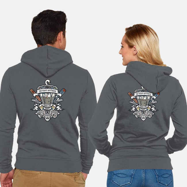 Three Flavours Crest-unisex zip-up sweatshirt-Arinesart