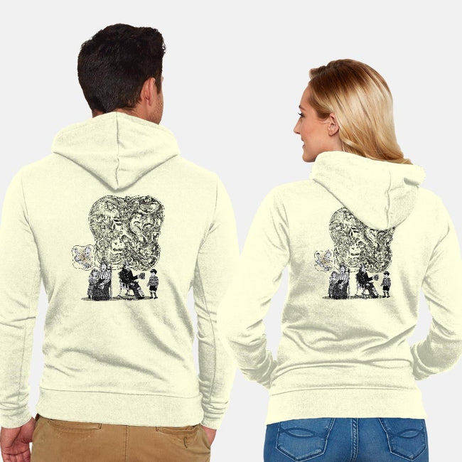 Old Sailor Tales. Reality or Myth?-unisex zip-up sweatshirt-Aliadotony