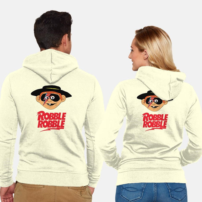 Robble Robble-unisex zip-up sweatshirt-Hamburglar4Life