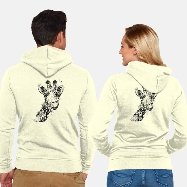 Wildlife-unisex zip-up sweatshirt-dandingeroz
