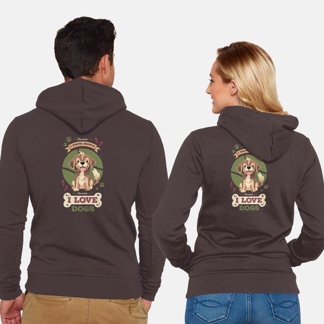 I Love Dogs!-unisex zip-up sweatshirt-Geekydog