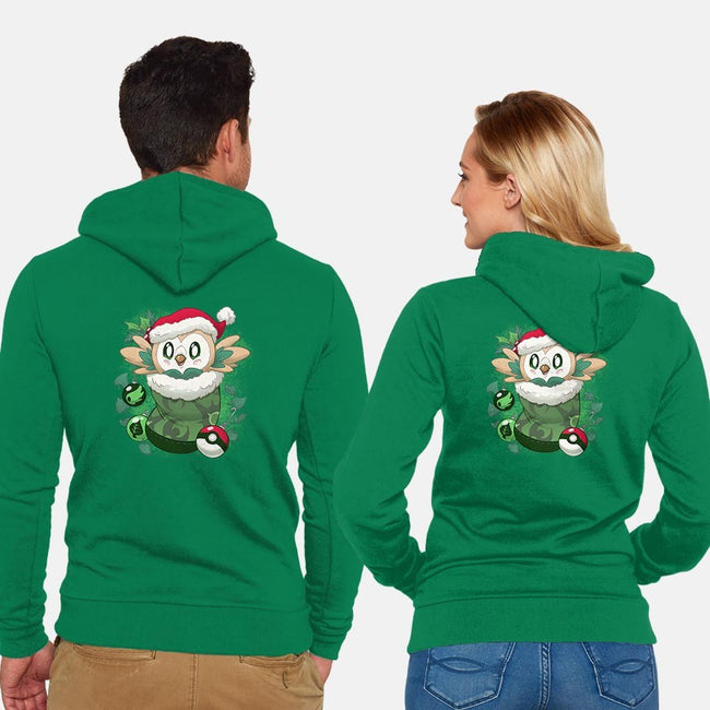 Leafy Stocking Stuffer-unisex zip-up sweatshirt-DoOomcat