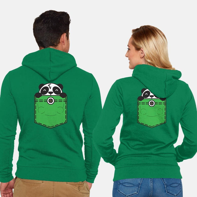 Pocket Panda-unisex zip-up sweatshirt-StevenToang