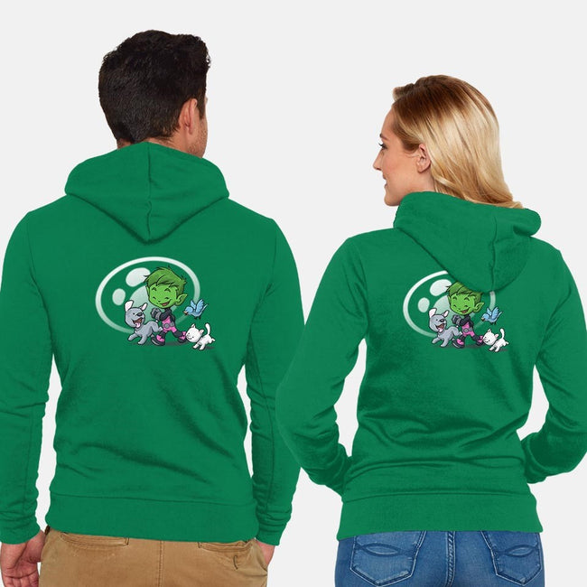 Fine Wild Friends-unisex zip-up sweatshirt-DoOomcat