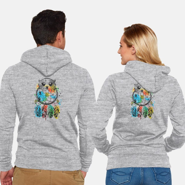 Owl Dreamcatcher-unisex zip-up sweatshirt-NemiMakeit