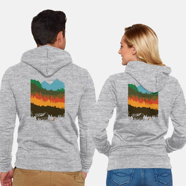 Hunting Season-unisex zip-up sweatshirt-dandingeroz