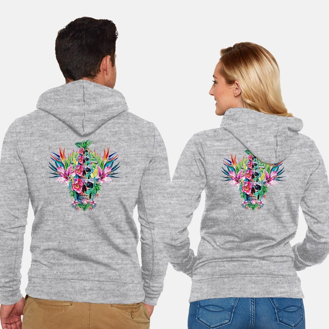 Tiki Tower-unisex zip-up sweatshirt-RizaPeker