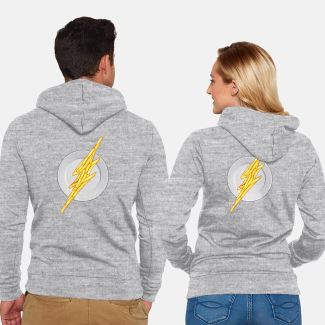 Flash Food-unisex zip-up sweatshirt-jerbing
