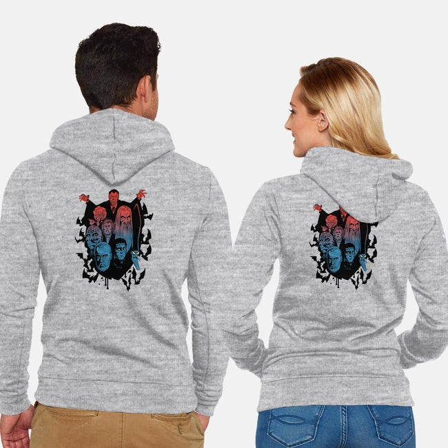 Prince of Darkness-unisex zip-up sweatshirt-cyclonaut