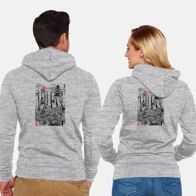Flying for Humanity-unisex zip-up sweatshirt-DrMonekers