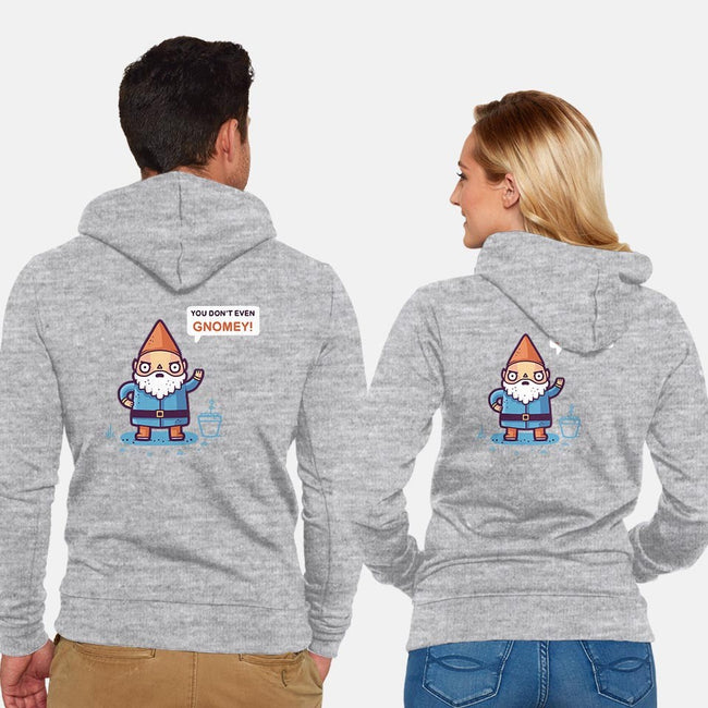 Chillin With My Gnomies-unisex zip-up sweatshirt-Randyotter