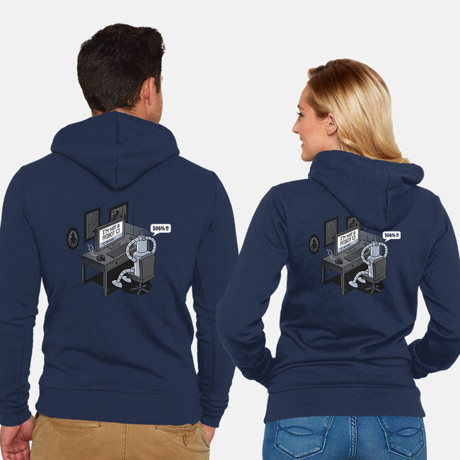 Robot Problems-unisex zip-up sweatshirt-Gamma-Ray