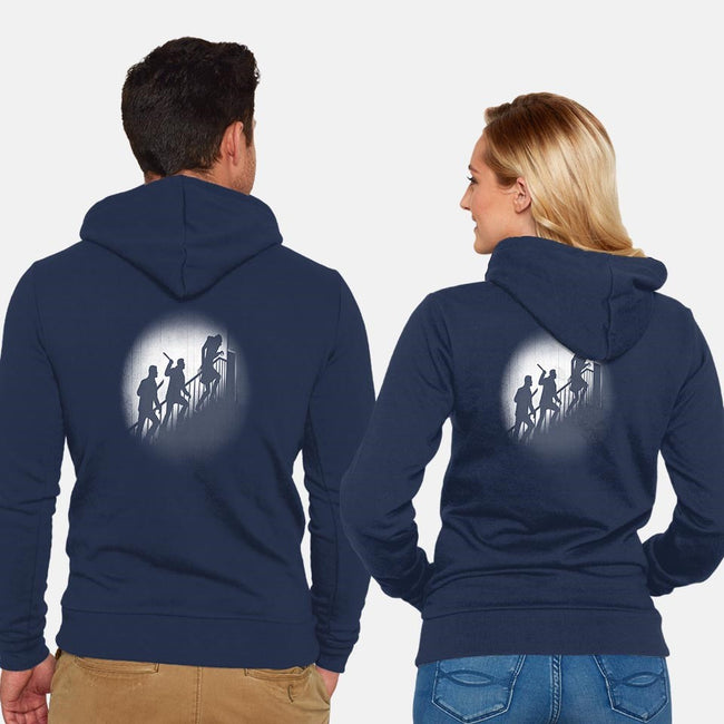 The Nosferatu Hunters-unisex zip-up sweatshirt-Six Eyed Monster