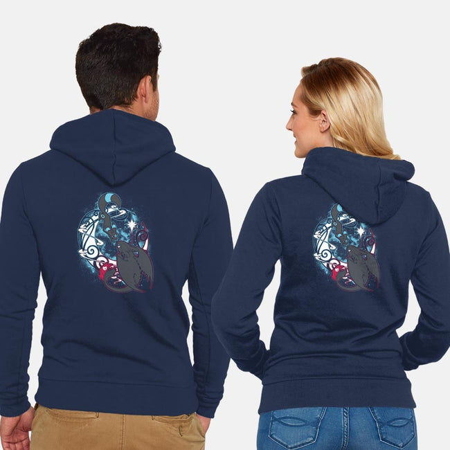 Creatures of the Night-unisex zip-up sweatshirt-ChocolateRaisinFury
