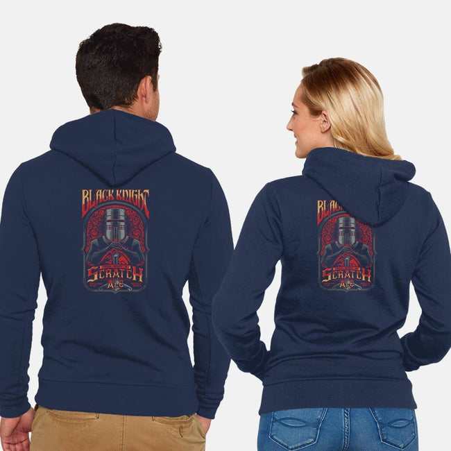 Tis But A Scratch Ale-unisex zip-up sweatshirt-sixamcrisis