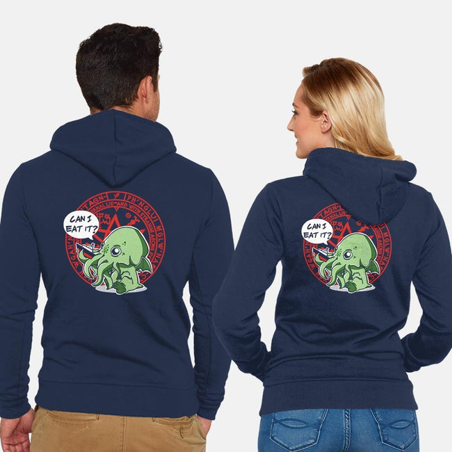 Little Cthulhu Is Hungry-unisex zip-up sweatshirt-TaylorRoss1