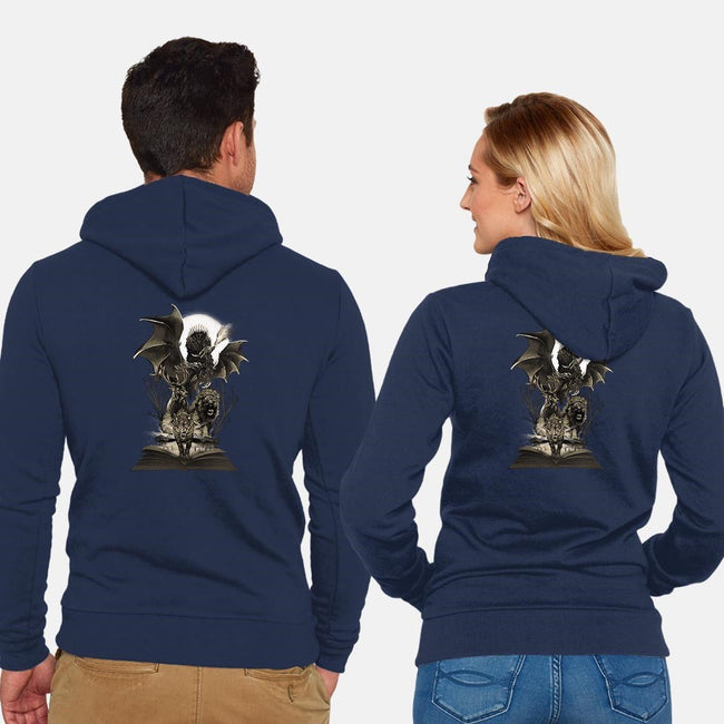 Book of Kingdoms-unisex zip-up sweatshirt-dandingeroz