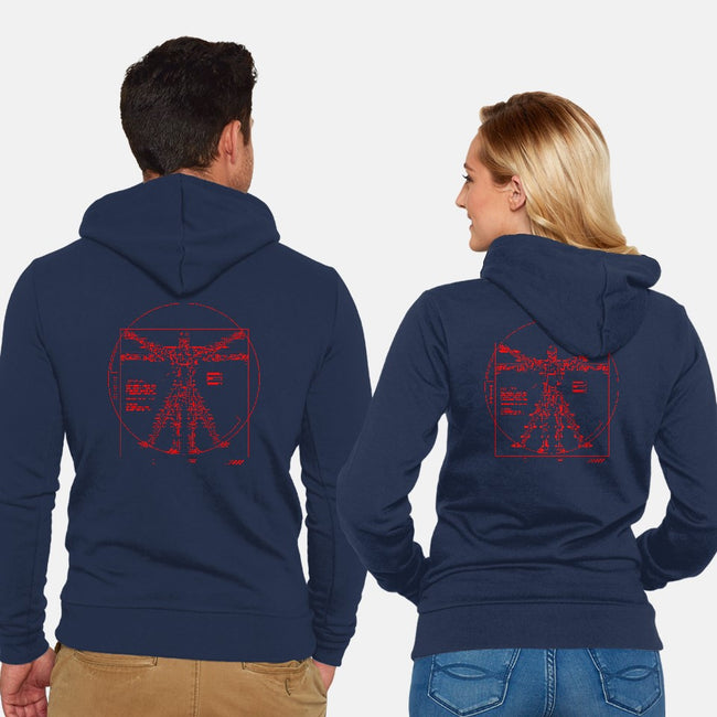 Vitruvian T-800-unisex zip-up sweatshirt-demonigoteshirts