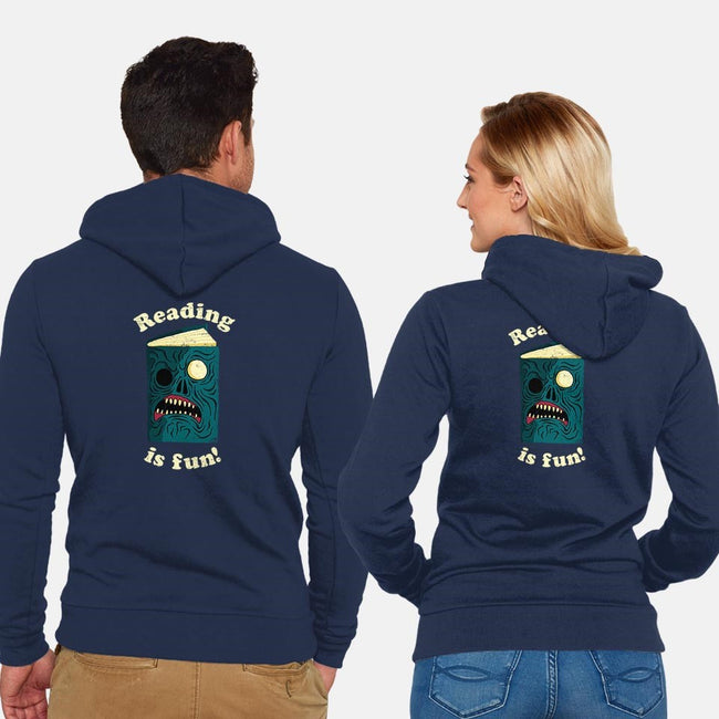 Reading is Fun-unisex zip-up sweatshirt-DinoMike