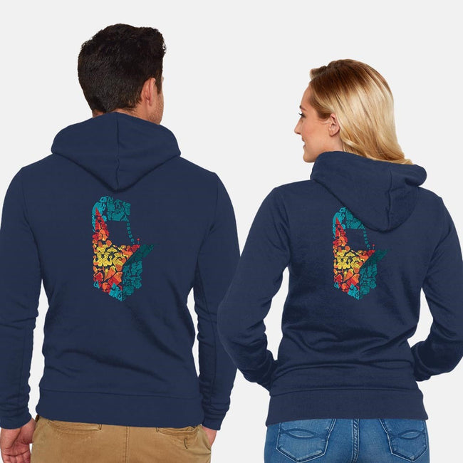 Arcade Hall of Fame-unisex zip-up sweatshirt-stlkid