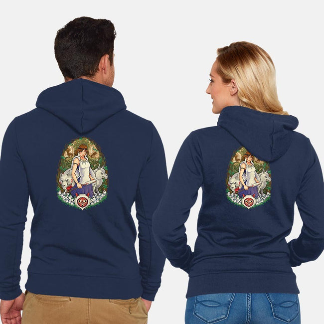 Guardian of the Forest-unisex zip-up sweatshirt-TrulyEpic