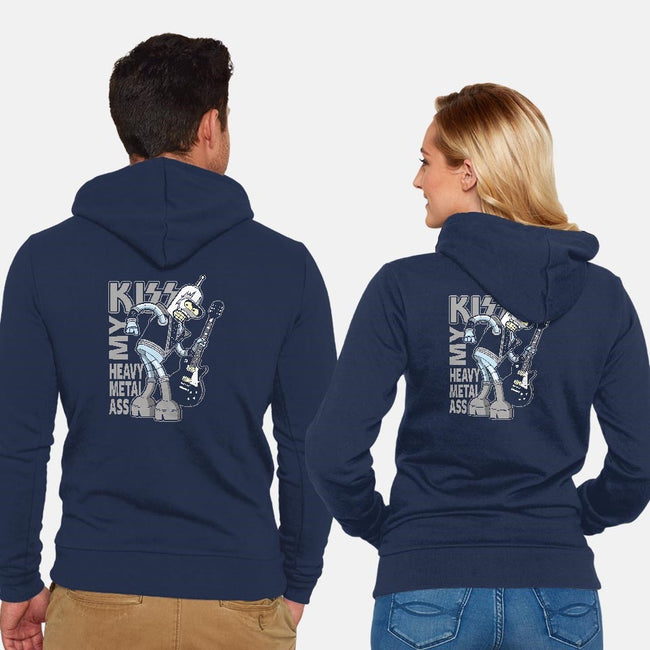 Heavy Metal Ass-unisex zip-up sweatshirt-Boggs Nicolas