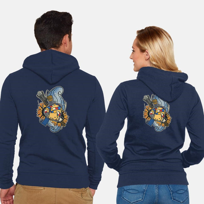 Timey Wimey in Bottle-unisex zip-up sweatshirt-TaylorRoss1