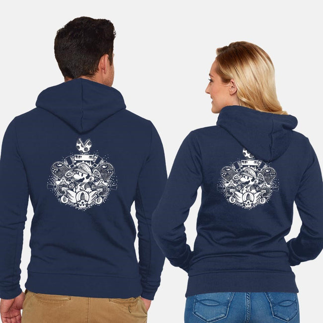 Amazing Plumber Brother Chest Piece-unisex zip-up sweatshirt-Paintchips