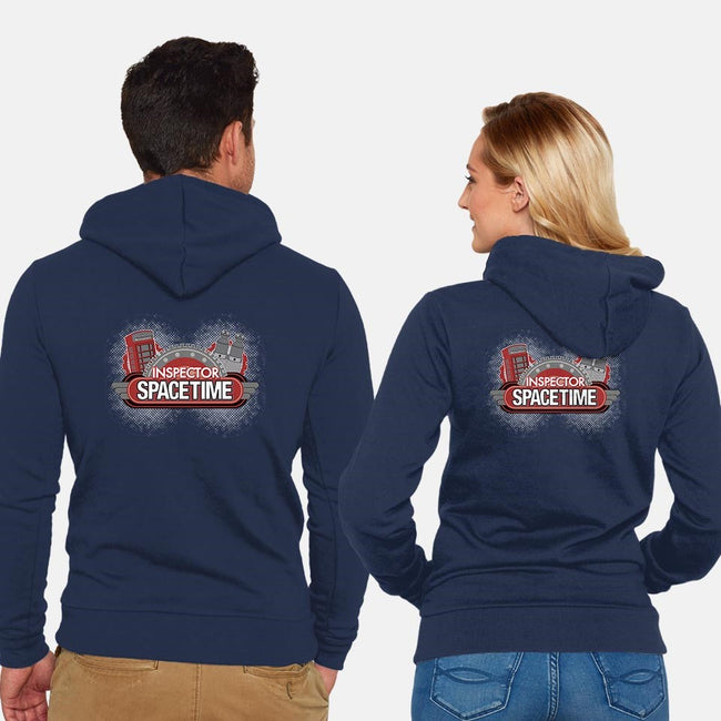 Inspector Spacetime-unisex zip-up sweatshirt-elfwitch