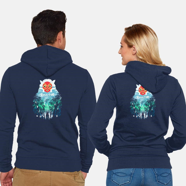 The Forest Spirit-unisex zip-up sweatshirt-dandingeroz