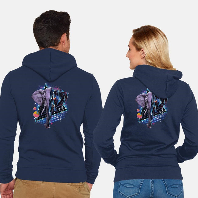 RAD ELEPHANT-unisex zip-up sweatshirt-vp021