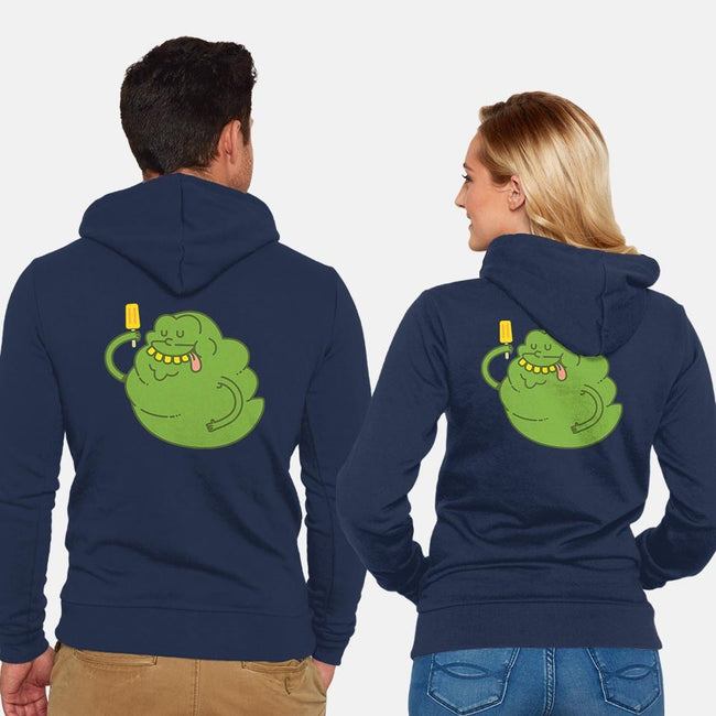 Green Ghost-unisex zip-up sweatshirt-ppmid