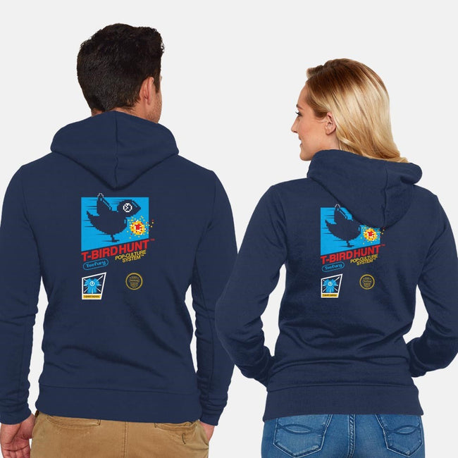 T-Bird Hunt-unisex zip-up sweatshirt-GordonB