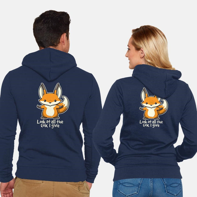 All The Fox-unisex zip-up sweatshirt-Licunatt