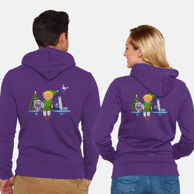 The Link on the Ledge-unisex zip-up sweatshirt-kalgado