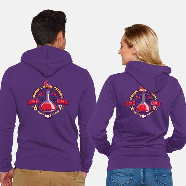 Mario's Magic Potions-unisex zip-up sweatshirt-Minilla