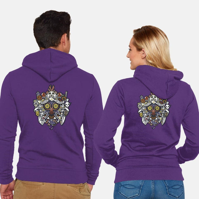 Power of the Mask Crest-unisex zip-up sweatshirt-Arinesart