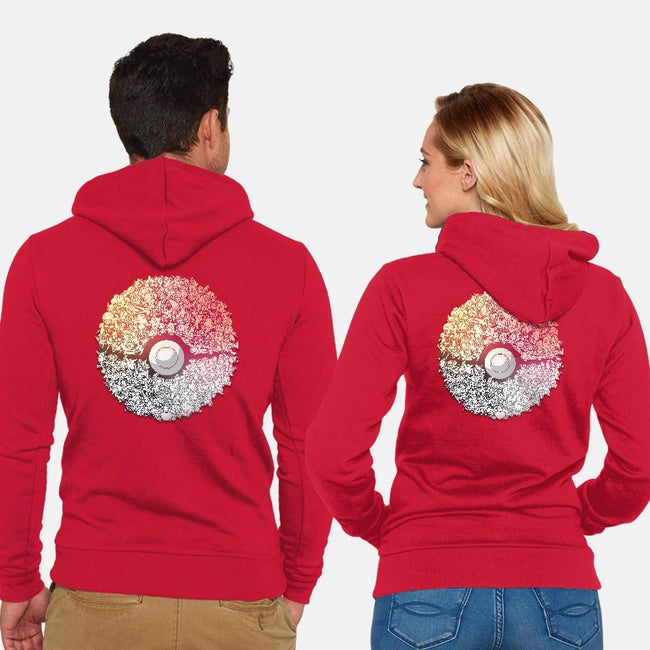 Doodlemon-unisex zip-up sweatshirt-AlbertoArni