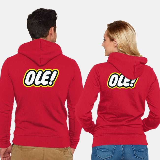 Ole!-unisex zip-up sweatshirt-inaco