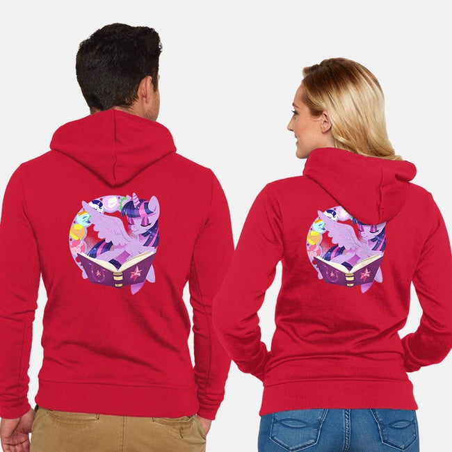 In Our Book-unisex zip-up sweatshirt-thedicegoddess