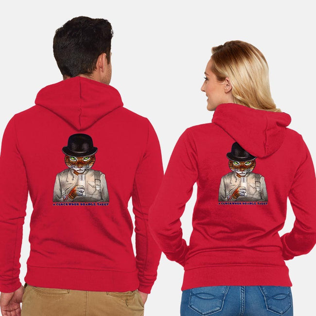 Clockwork Tabby-unisex zip-up sweatshirt-ChetArt
