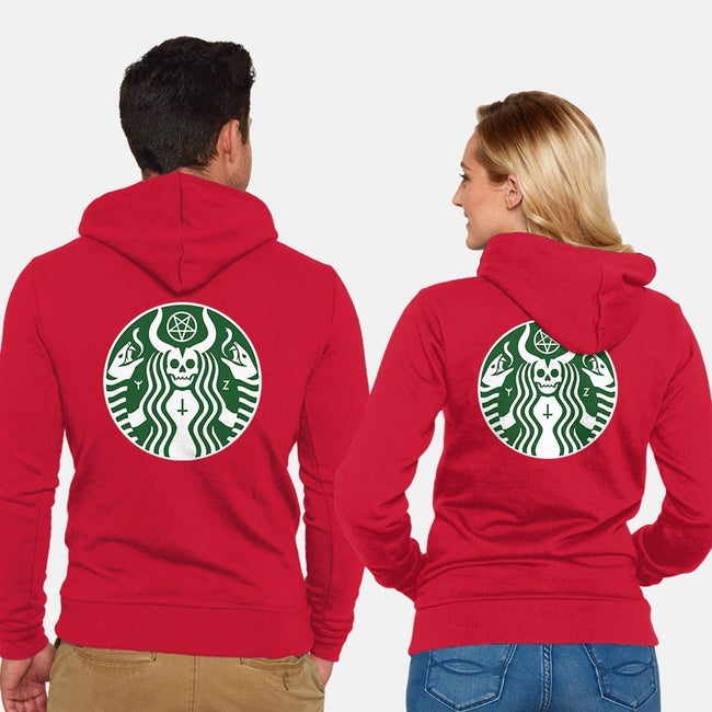 The Red Cup-unisex zip-up sweatshirt-Florey