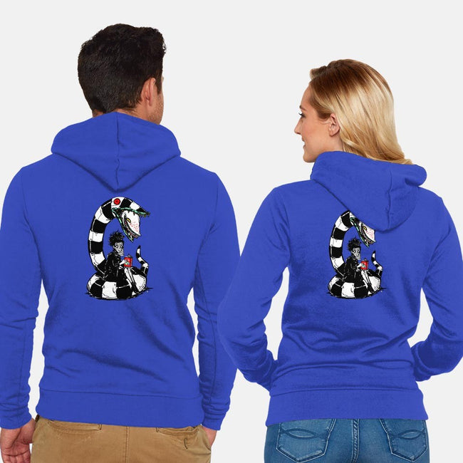 Lyds and Worm-unisex zip-up sweatshirt-Jumpix