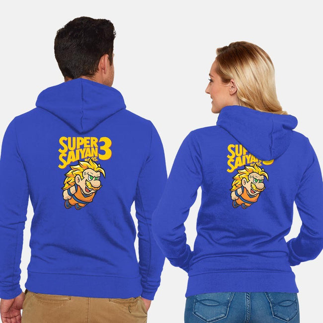 Saiyan Bros 3-unisex zip-up sweatshirt-Oktobear