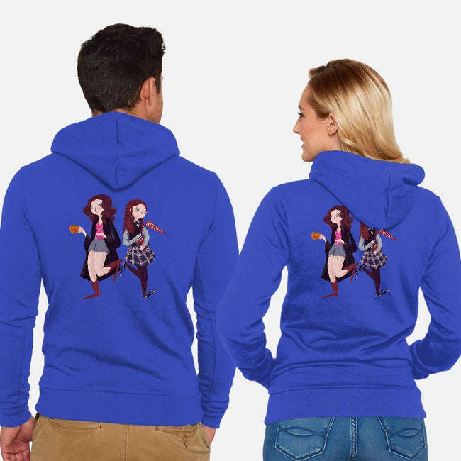 Oy With The Poodles Already!-unisex zip-up sweatshirt-nanlawson