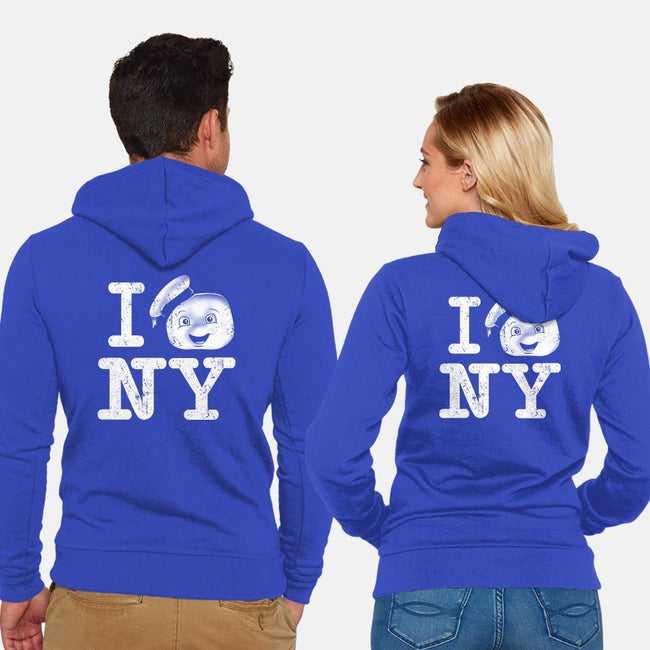 I Love This Town-unisex zip-up sweatshirt-InkOne