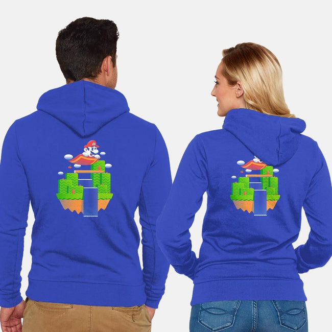 Carpet Ride-unisex zip-up sweatshirt-Minilla