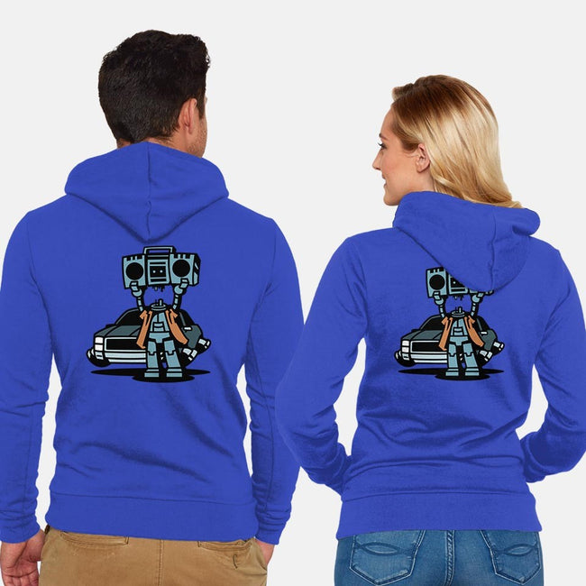 Boombot Serenade-unisex zip-up sweatshirt-PrimePremne