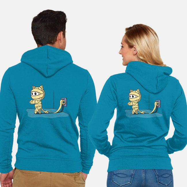 Mummy Cat-unisex zip-up sweatshirt-IdeasConPatatas